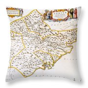 China: Fujian Map, 1662 Throw Pillow