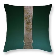 China: Jade Blade Throw Pillow
