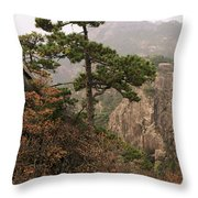 China, Mt. Huangshan Throw Pillow