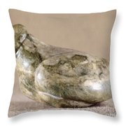 China: Neolithic Sculpture Throw Pillow