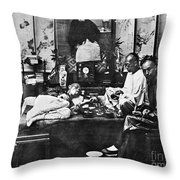 China: Opium Smokers Throw Pillow