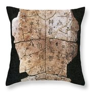 China: Oracle Shell Throw Pillow