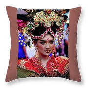 China Pageant Fashion Festival Throw Pillow