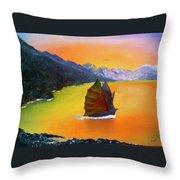 China Sea Throw Pillow