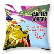 China, Yangtze River Cruise Throw Pillow