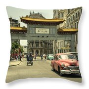 Chinatown Chevy  Throw Pillow