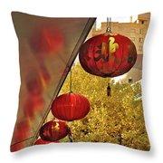 Chinatown - Chinese Lanterns Throw Pillow