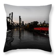 Chinatown Contrast Throw Pillow