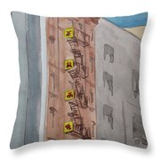 Chinatown Fire Escape Throw Pillow