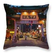 Chinatown Gate Boston Ma Throw Pillow