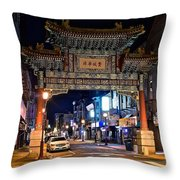 Chinatown In Philadelphia Throw Pillow