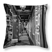 Chinatown In Singapore - Entry To The Saff Hotel Throw Pillow