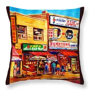 Chinatown Markets Throw Pillow