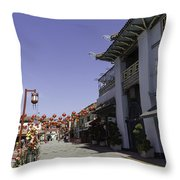 Chinatown Shops Throw Pillow