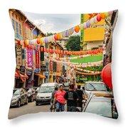 Chinatown Singapore Throw Pillow