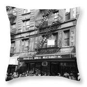 Chinatown Storefront Throw Pillow
