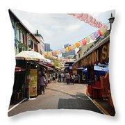 Chinatown Street Throw Pillow