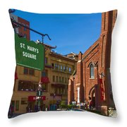 Chinatown View From St. Mary's Square Throw Pillow