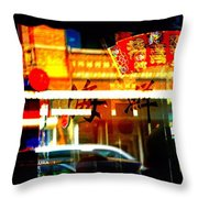 Chinatown Window Reflections 2 Throw Pillow by Marianne Dow