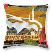 Chinatown Wood And Bones 3 Throw Pillow