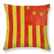 Chinese American Flag Vertical Throw Pillow