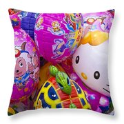 Chinese Balloons Throw Pillow