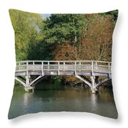 Chinese Bridge Over The River Throw Pillow