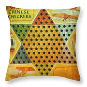 Chinese Checkers Throw Pillow