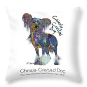 Chinese Crested Dog Pop Art Throw Pillow