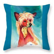 Chinese Crested Sunset Throw Pillow