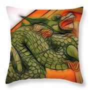 Chinese Dragon Art Throw Pillow