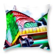 Chinese Dragon Ride 4 Throw Pillow