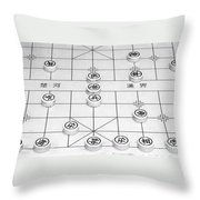 Chinese Game Board Throw Pillow