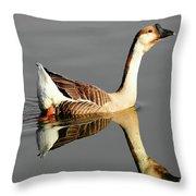 Chinese Goose Throw Pillow