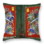 Chinese Guardians Throw Pillow