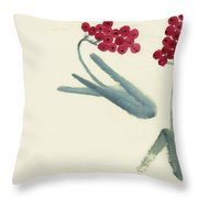 Chinese Hawthorn Throw Pillow