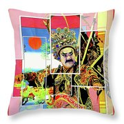 Chinese Historical Warrior Throw Pillow