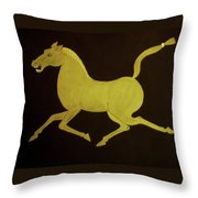 Chinese Horse Throw Pillow