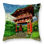 Chinese House Throw Pillow