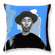 Chinese Immigrant Tucson Arizona Circa 1910 Color Added 2016 Throw Pillow