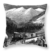 Chinese Laborers, 1868 Throw Pillow