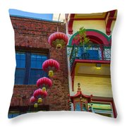 Chinese Lanterns Over Grant Street Throw Pillow