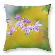 Chinese Meadow Rue Throw Pillow
