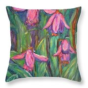 Chinese Orchids Throw Pillow