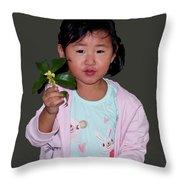 Chinese Orphan Girl Throw Pillow