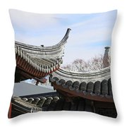Chinese Rooflines Throw Pillow