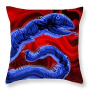 Chinese Serpent Rising Throw Pillow