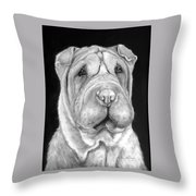 Chinese Sharpei Throw Pillow
