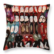 Chinese Slippers Throw Pillow