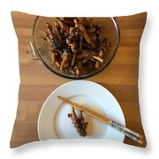 Chinese Spicy Chicken Feet Throw Pillow